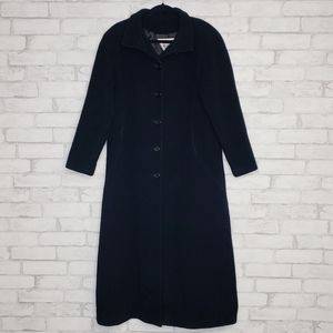 Marvin Richards Wool Black Long Coat Size 4